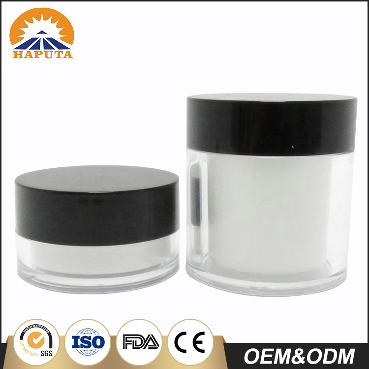 Simple Designed Cosmetic Double Wall Cream Jar With Screw Jar