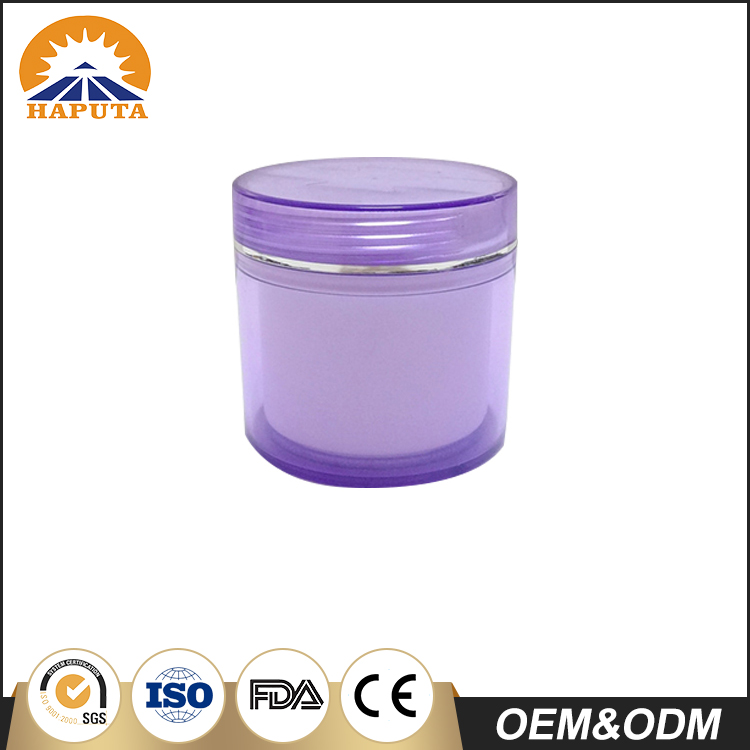 Cosmetic Double Wall Cream Jar With New Design Cap