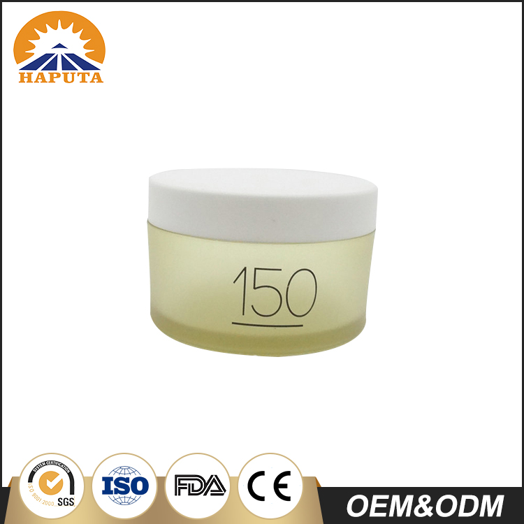 150g Frosted Fancy Plastic Cream Jar With Screw Cap